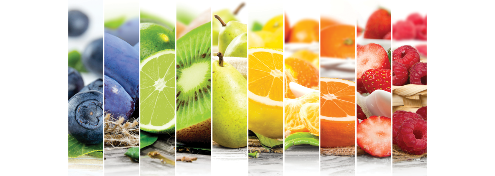 A variety of healthy fruits to help improve optimum nutrition