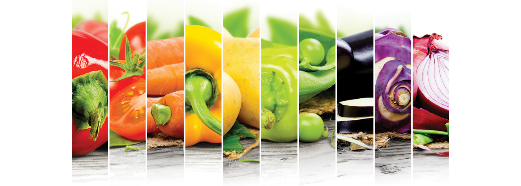 A variety of healthy vegetables to help improve optimum nutrition